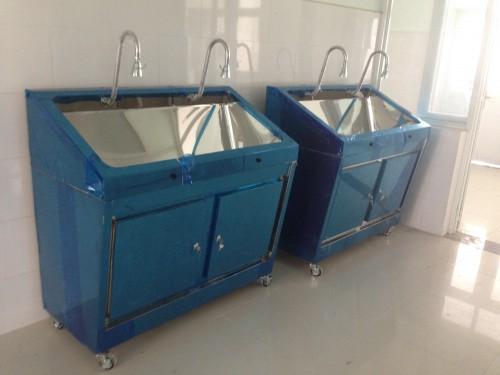 Bồn rửa tay inox 02 vòi